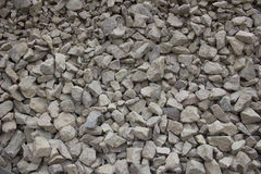 Texture of rubble. Texture of stone rubble, surface with a large number of stones Stock Photography