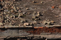 Texture of rubble. Texture tile with rubble and ruins Stock Photography