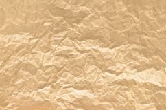 Texture of rumpled old paper close-up Royalty Free Stock Photo