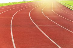 Texture of running track. With curve line royalty free stock photography