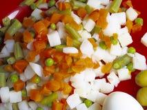 Texture russe de salade Image stock