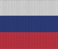 Texture of the Russian flag Stock Images
