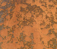 Texture: Rust. Abstract patterns of rust on the side of a metal bin. Useful for textures and backgrounds Royalty Free Stock Photo