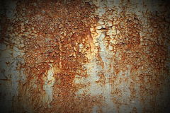 Texture of rust on metal Royalty Free Stock Images