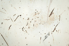 Texture of the rust protrusions on the painted metal Stock Photos