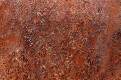 Texture of rust on sheet metal drain pipe Stock Images