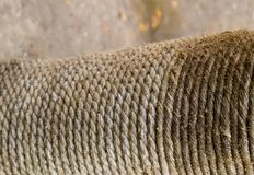 Texture rustic rope gray fiber wicker vertical row jute weathered grunge background close-up stock photos