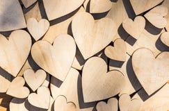 Texture rustique en bois de fond de coeurs d'amour Image libre de droits