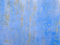 Texture of rusty blue iron Royalty Free Stock Photography