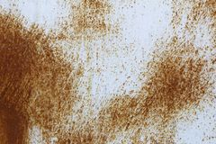 Rusted on surface of the old iron, Deterioration of the steel, Decay and grunge Stock Image