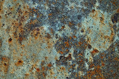 Texture of rusty iron, cracked paint on an old metallic surface, sheet of rusty metal with cracked and flaky paint,  corrosion, de. Cay metal background, decay Stock Images