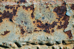 Texture of rusty iron, cracked paint on an old metallic surface, sheet of rusty metal with cracked and flaky paint,  corrosion, de. Texture of rusty iron Royalty Free Stock Image