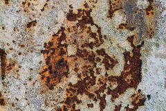 Texture of rusty iron, cracked paint on an old metallic surface, sheet of rusty metal with cracked and flaky paint,  corrosion, de. Texture of rusty iron Stock Photo