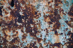 Texture of rusty iron, cracked paint on an old metallic surface, sheet of rusty metal with cracked and flaky paint,  corrosion, de. Texture of rusty iron Stock Photos
