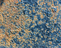 Texture of rusty metal with old cracked paint Royalty Free Stock Image