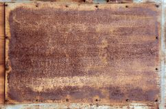 Texture - Rusty Metal Panel Royalty Free Stock Images