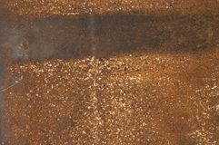 Texture - rusty metal surface with a strip royalty free stock image