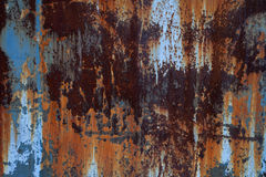Texture of rusty metal wall Royalty Free Stock Photos