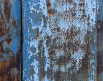 Texture of  rusty metal wall Stock Photography
