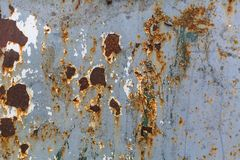 Texture rusty metal wall with peeling paint. Abstract. Royalty Free Stock Photos