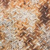 Texture of rusty old diamond plate metal Stock Photo