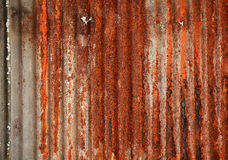 Texture of rusty old zinc sheets Stock Images