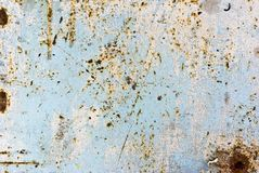 Texture of rusty painted metal Royalty Free Stock Photo