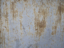 Texture of rusty scratch on the grey steel wall Stock Images