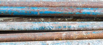 Texture of rusty and stained iron pipes Stock Photography
