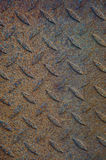 Texture of rusty tread plate Royalty Free Stock Images