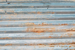 Texture of rusty zinc in silver color Royalty Free Stock Image
