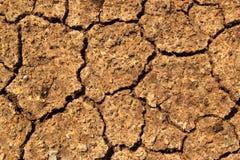 Texture sèche de la terre Photos libres de droits