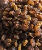 Texture sèche de raisins secs Photo stock