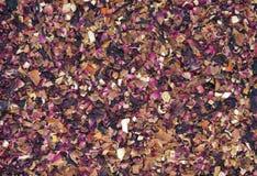 Texture sèche de thé de fruits tropicaux Photos libres de droits