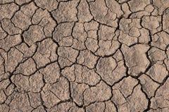 Texture sèche et criquée de la terre Changement climatique global Images stock