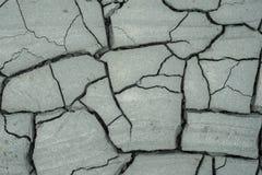 Texture sèche trois de boue Photographie stock libre de droits