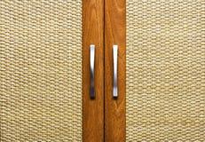 Texture`s door-handel. Interior. two  door-handels. close-up. background Royalty Free Stock Images