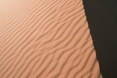Texture of Sahara desert dunes. royalty free stock photography