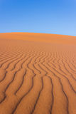 Texture of the Sahara. Patterns in the desert sand royalty free stock photo