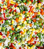 Texture saine de nourriture de légumes colorés Photos libres de droits