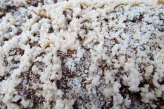 Texture of salt crystals Royalty Free Stock Image