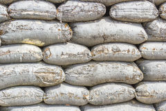 Texture of sand bag in military Royalty Free Stock Image