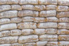 Texture of sand bag in military Stock Photos