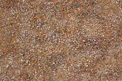 Texture of sand and pebbles Stock Photos