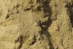 Texture of sand after rain Stock Photography