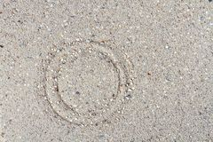 Texture of sand. With a smooth circle Royalty Free Stock Images