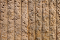 Texture of sandstone with vertical lines Royalty Free Stock Photo