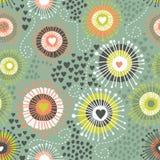 Texture sans couture abstraite psychédélique Images libres de droits
