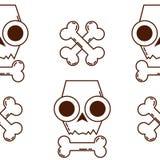 Texture sans couture avec des crânes Crâne et os Modèle de Halloween Photographie stock