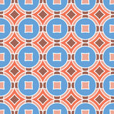 Texture sans couture avec des losanges et des cercles Mosaïque Patt sans fin Photos libres de droits
